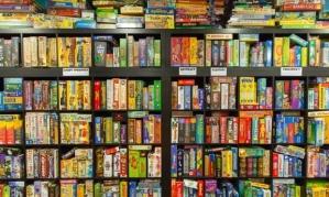 games on a shelf