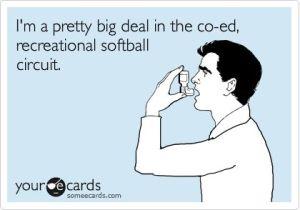 funny softball pic