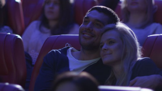 couple at movie